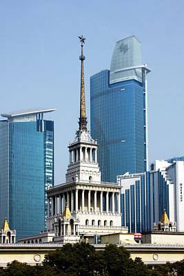 Shanghai Exhibition Center Print by Christine Till