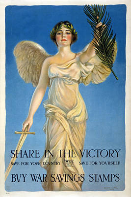 Share In The Victory. Save For Your Country Print by Haskell Coffin