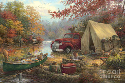 Great Outdoors Painting - Share The Outdoors by Chuck Pinson
