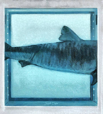 Shark Painting - Shark In Magic Cubes - 2 Of 3 by Leonardo Digenio