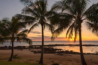 Haleiwa Photograph - Sharks Cove Sunset 3 - Oahu Hawaii by Brian Harig
