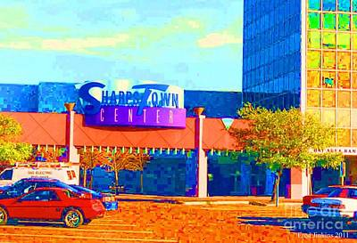 Sharpstown Mall Painting Print by Fred Jinkins