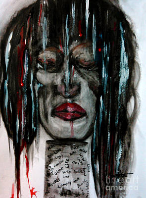 Tear Drawing - Shattered Pieces  by Lori  Lovetere