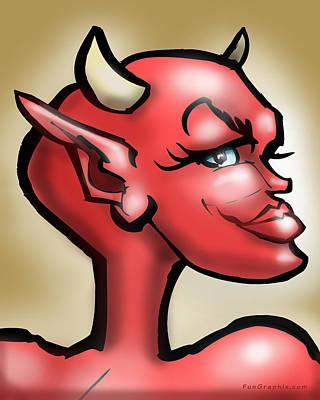 She-devil Digital Art - She Devil by Kevin Middleton