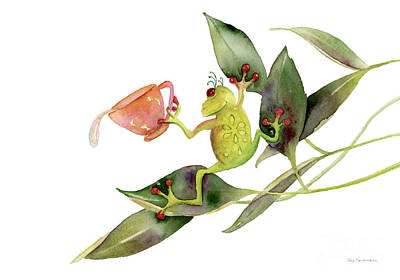 Amphibians Painting - She Frog by Amy Kirkpatrick