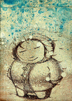 Smiling Mixed Media - She Liked The Cold by Konrad Geel