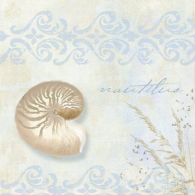 Shell Pastel Painting - She Sells Seashells I by Mindy Sommers