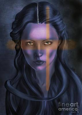 The Universe Painting - She... The Eyes. by Gabriela Tasiro