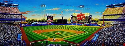 Ny Yankees Painting - Shea Stadium by T Kolendera