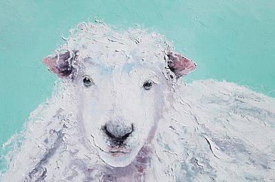 Country Style Painting - Sheep Art - Jeremiah by Jan Matson