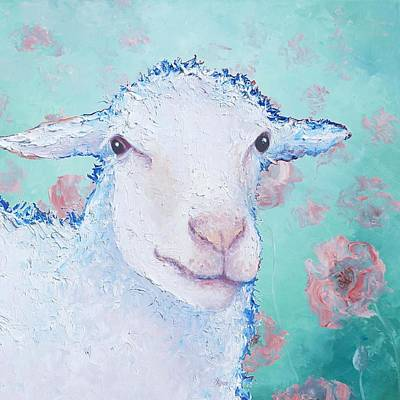 Country Cottage Painting - Sheep Painting - Its Fleece Was White As Snow by Jan Matson