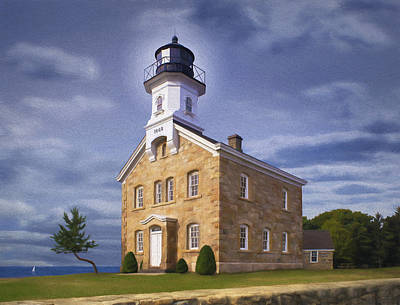 New England Lighthouse Painting - Sheffield Light by James Charles