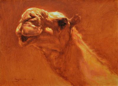 Burnt Sienna Painting - Sheikh Jamel by Ben Hubbard