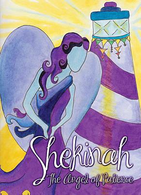 Angels Drawing - Shekinah by Archeiai Guidance