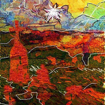 Bible Painting - Shekinah...after Van Gogh  by Paul Sutcliffe