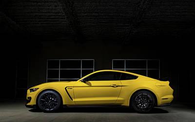 Cobra Digital Art - Shelby Gt 350 by Douglas Pittman