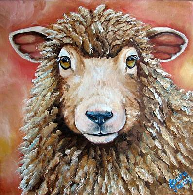 Ewes Painting - Shelby by Laura Carey