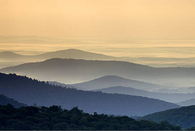 Shenandoah National Park Mountain Scene Print by Brendan Reals