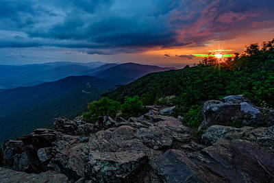 Gathering Photograph - Shenandoah Sunrise by Rick Berk