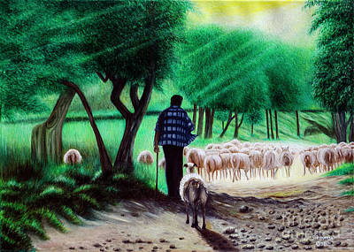 Painting - Shepherder by Fine art Photographs