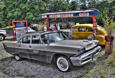 Esso Photograph - Sheriff Car by Todd Hostetter