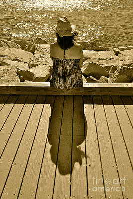 Shimmer And Shadow Print by Jason Freedman