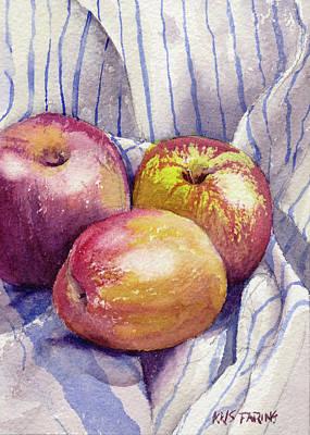 Shine On 3 Apples Original by Kris Parins