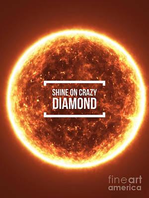 Lyrics Photograph - Shine On Crazy Diamond by Edward Fielding