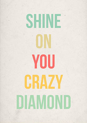 Music Digital Art - Shine On You Crazy Diamond by Taylan Apukovska