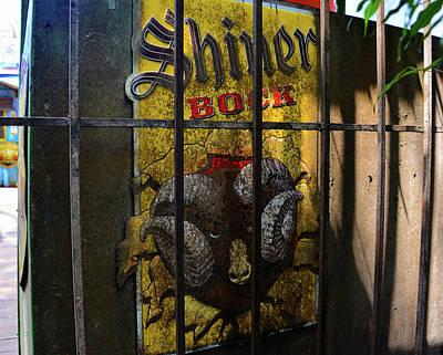 Shiner Photograph - Shiner Bock Behind Bars by David Lee Thompson