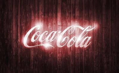 Shining Coca Cola Barn Door Print by Dan Sproul