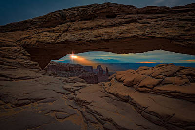 Shining Down On Mesa Arch Print by Rick Berk