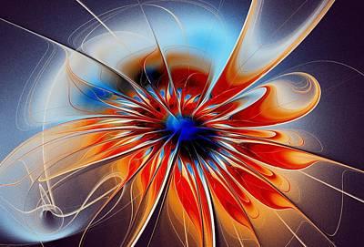 Shining Red Flower Print by Anastasiya Malakhova