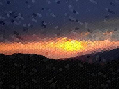 Mosaic Print featuring the photograph Shining Through by Roberto Alamino