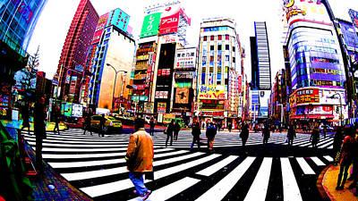 Shinjuku Tokyo Print by Jera Sky