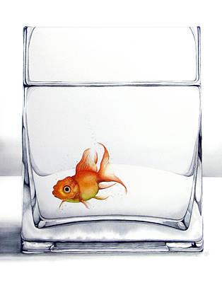 Goldfish Painting - Shiny by Christina Meeusen