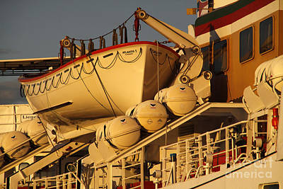 Ship Atlantis Print by Martina Berg