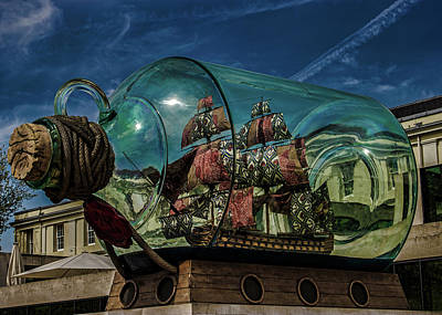 Ship In A Bottle Print by Martin Newman