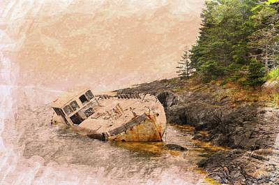 Ship Wreck Print by Michael Dion Taylor