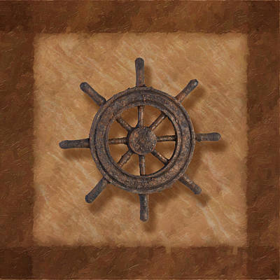 Ship's Wheel Print by Tom Mc Nemar
