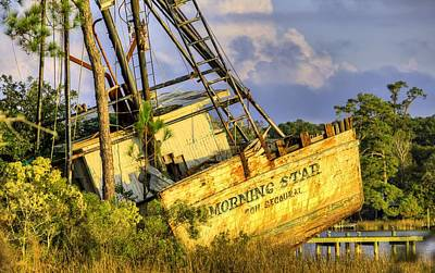Shipwreck Of The Morning Star Print by JC Findley