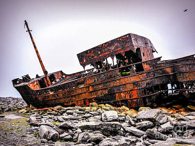 Shipwreck On Inisheer 6 Print by Lexa Harpell