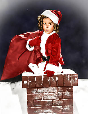 Shirley Temple Digital Art - Shirley Temple At The Chimney by Franchi Torres