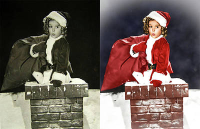 Shirley Temple Digital Art - Shirley Temple Colorized by Franchi Torres