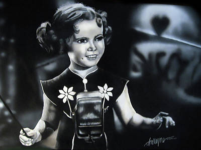 Shirley Temple Painting - Shirley Temple by Dwayne Lester