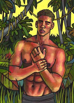 Shirtless In The Jungle Original by Douglas Simonson