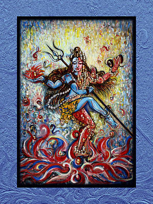 Yoga Digital Art - Shiva Shati - Eternal Dance by Harsh Malik