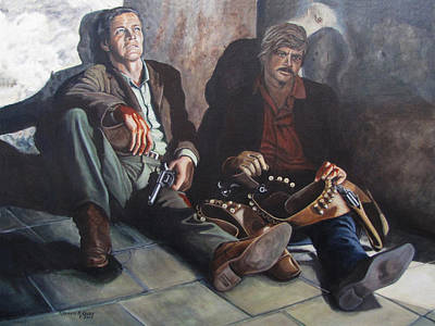 Sundance Painting - Shootout At San Vincente by Kenneth Kelsoe