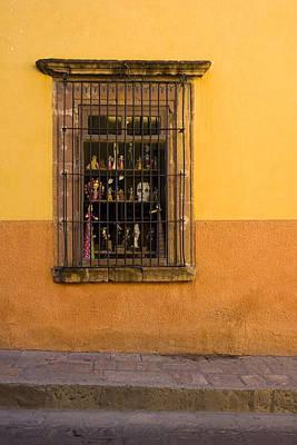 Shop Window San Miguel De Allende Print by Carol Leigh
