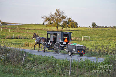 Amish Photograph - Shopping Spree Is Over by David Arment